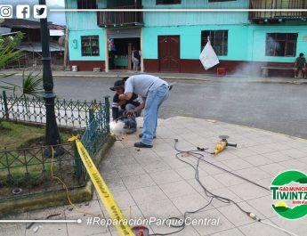 Reparación del parque central de Santiago